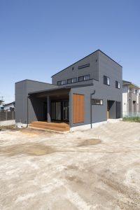 おしゃれな木造住宅の外観