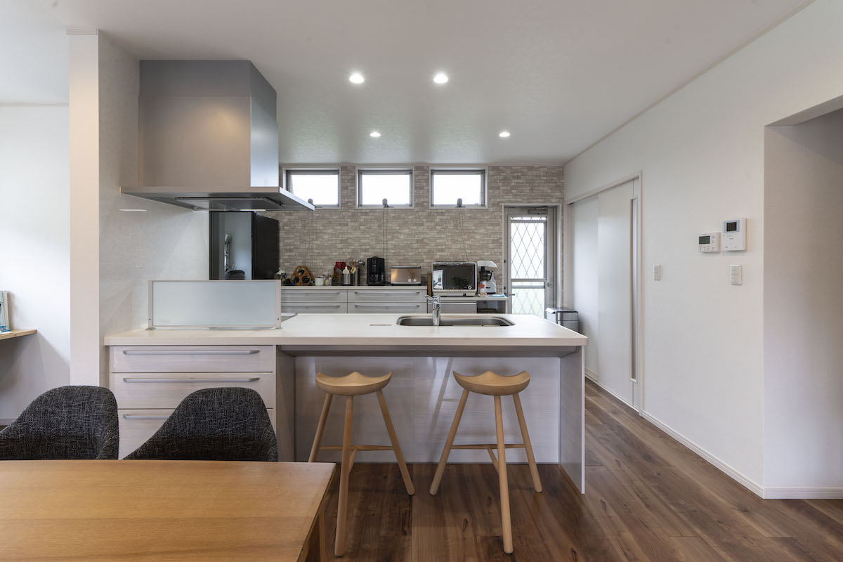 ライフスタイルの変化に対応しやすい対面キッチン