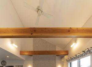 平屋の木の家の建築実例:リビング