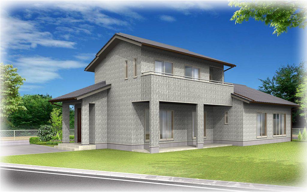 二階建ての家