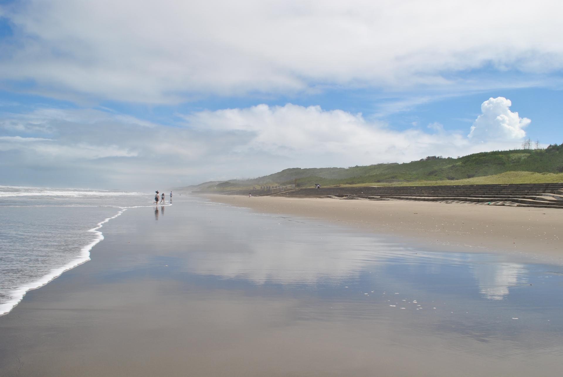 茨城県の鹿島灘:鉾田市の海岸線(大竹海岸)